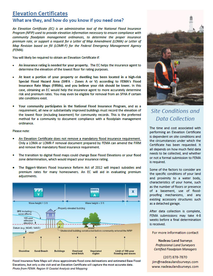 Maine Coast Surveying Flood Consultants Elevation Certificate